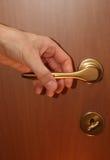 Puerta del cierre de la apertura de la mano Fotografía de archivo libre de regalías