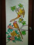 Puerta del cuarto de baño Imagen de archivo