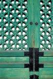 Puerta del detalle - palacio de Gyeongbokgung Fotos de archivo libres de regalías