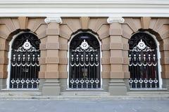 Puerta del diseño en el templo de la esmeralda Imagenes de archivo