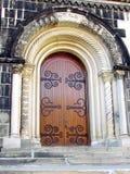 Puerta 2015 del edificio principal de la universidad de Toronto Imagen de archivo