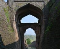 Puerta del elefante en Mandav la India Imágenes de archivo libres de regalías