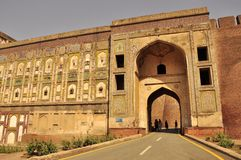 Puerta del elefante, entrada al fuerte de Lahore, Paquistán Fotos de archivo libres de regalías