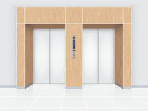Puerta del elevador ilustración del vector