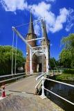 Puerta del este (Oostpoort), cerámica de Delft Fotografía de archivo