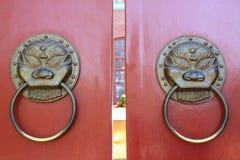 Puerta del estilo chino Fotos de archivo libres de regalías