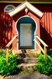 Puerta del fondo Foto de archivo libre de regalías