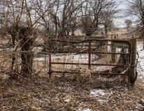 Puerta del ganado Fotos de archivo