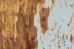 Puerta del garaje u hoja oxidada del hierro Imagenes de archivo