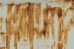 Puerta del garaje u hoja oxidada del hierro Fotografía de archivo libre de regalías