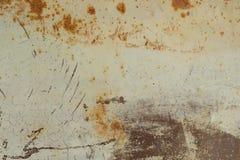 Puerta del garaje u hoja oxidada del hierro Imagen de archivo