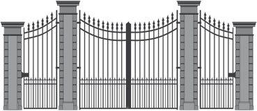 Puerta 6 del hierro ilustración del vector