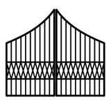 Puerta del hierro stock de ilustración
