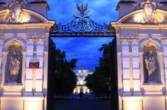 Puerta del hierro al conocimiento Imagen de archivo libre de regalías