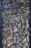 Puerta del hierro del vintage Foto de archivo libre de regalías
