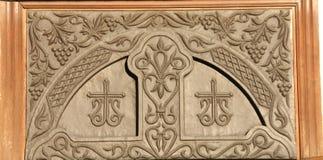 Puerta del hierro del vintage Imagen de archivo libre de regalías