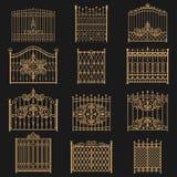 Puerta del hierro labrado stock de ilustración