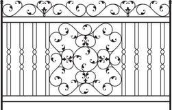 Puerta del hierro labrado Fotos de archivo