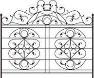 Puerta del hierro labrado Imagen de archivo