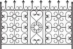 Puerta del hierro labrado Fotografía de archivo