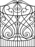 Puerta del hierro labrado, Fotos de archivo