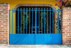 Puerta del hierro labrado Imagen de archivo libre de regalías