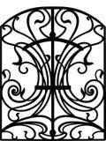 Puerta del hierro labrado, puerta, cerca Fotos de archivo libres de regalías