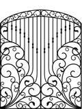 Puerta del hierro labrado, puerta, cerca Imagen de archivo