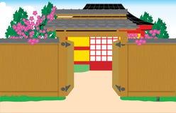 puerta del Japonés-estilo Fotografía de archivo libre de regalías