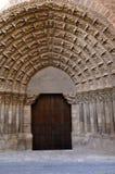 Puerta del Juicio, catedral de Tudela, Navarra Fotos de archivo
