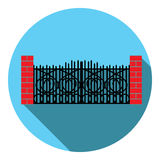 Puerta del labrado-hierro de la imagen del vector Fotos de archivo