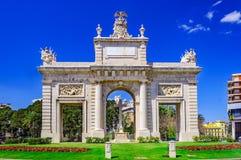 Puerta del Mar, υδροφράκτης Βαλένθια, Ισπανία, Ευρώπη Στοκ φωτογραφίες με δικαίωμα ελεύθερης χρήσης