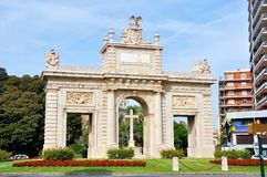 Puerta del Mar Arch situated in Valencia Stock Photography