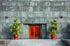 Puerta del mausoleo de Ho Chi Minh Foto de archivo