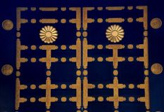 Puerta del mausoleo de Zuihoden Foto de archivo libre de regalías