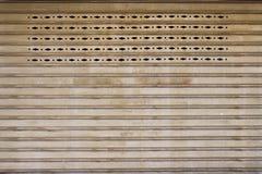 Puerta del metal de la textura Foto de archivo libre de regalías
