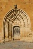 Puerta del monasterio de Sandoval. León. España Foto de archivo