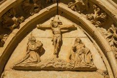 Puerta del monasterio de Sandoval. León. España Fotografía de archivo libre de regalías