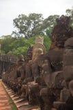 Puerta del norte de Angkpr Thom Imágenes de archivo libres de regalías