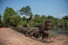 Puerta del norte del kahn de Preah Fotos de archivo