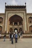 Puerta del norte del ` s de Taj Mahal en Agra imagen de archivo