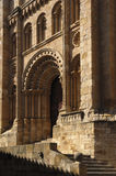 Puerta del Obispo of Cathedral,Zamora. Bishop door of Cathedral, Zamora, Spain royalty free stock photography