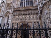 Puerta del oeste de la abadía de Westminster, Londres, Reino Unido Imagen de archivo libre de regalías