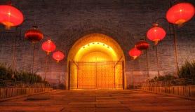 Puerta del oeste de la pared de la ciudad de Xian Foto de archivo libre de regalías