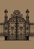 Puerta del palacio Fotos de archivo libres de regalías