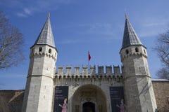 Puerta del palacio de Topkapi Foto de archivo