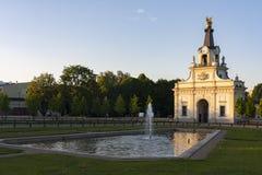 Puerta del palacio en Bialystok, Polonia de Branicki Fotografía de archivo