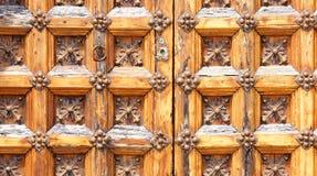 Puerta del Palau De Mącący ja Cel w Sitges dla tło i tekstur Zdjęcia Stock