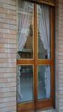 Puerta del panel de cristal Fotografía de archivo libre de regalías