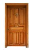 Puerta del panel de madera aislada Imagen de archivo libre de regalías